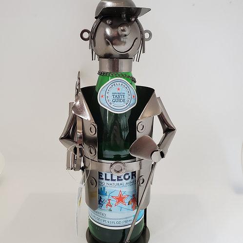 Golfer Wine Bottle Holder
