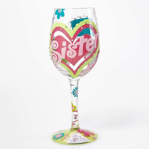 Lolita Sister.....My BFF Wine Glass