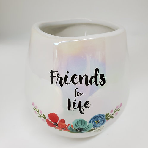 Friends 8 oz - 100% Soy Wax Candle Scent: Serenity