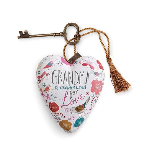 DEMDACO Grandma Art Heart