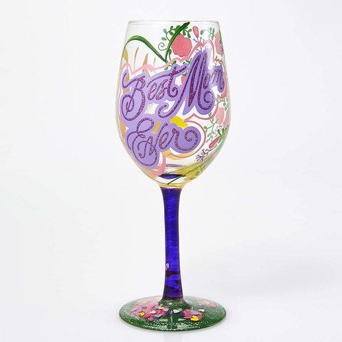 Lolita Best Mom Ever Wine Glass
