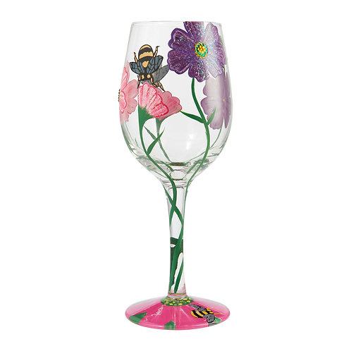 """Lolita """"My Drinking Garden"""" Wine Glass"""