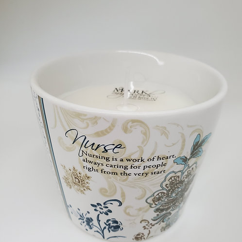 Nurse 8 oz Soy Wax Candle Scent: Tranquility