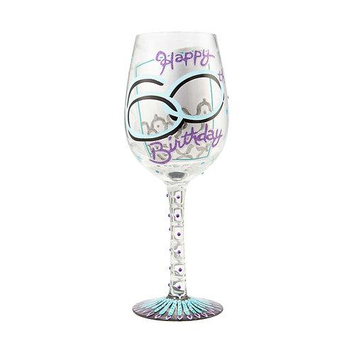 Lolita 60th Birthday Wine Glass