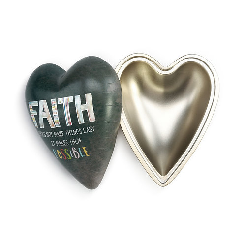 Faith Art Heart Keeper Box