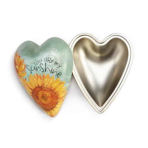 You Are My Sunshine Art Heart Keeper Box
