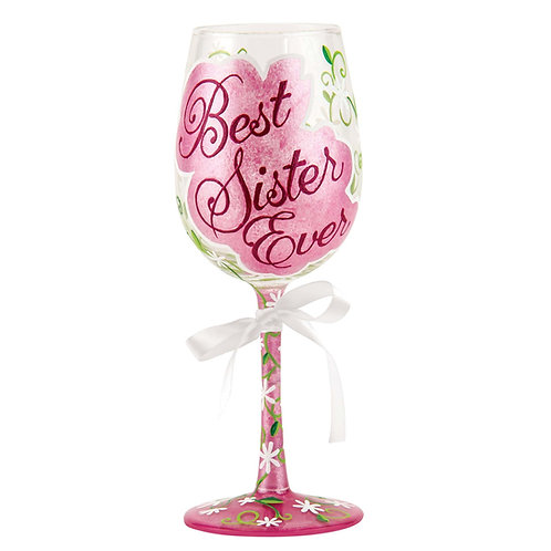 Lolita Best Sister Ever Wine Glass