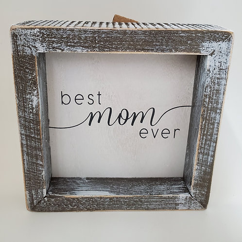 Adams And Co Best Mom Ever Wooden Plaque
