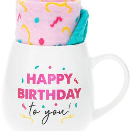 Happy Birthday 15 oz Mug And Sock Set