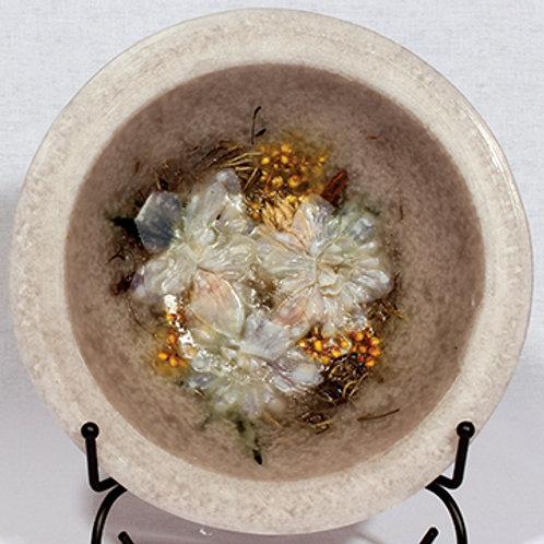 """Habersham 7"""" Wax Pottery Vessel Garden Vanilla"""