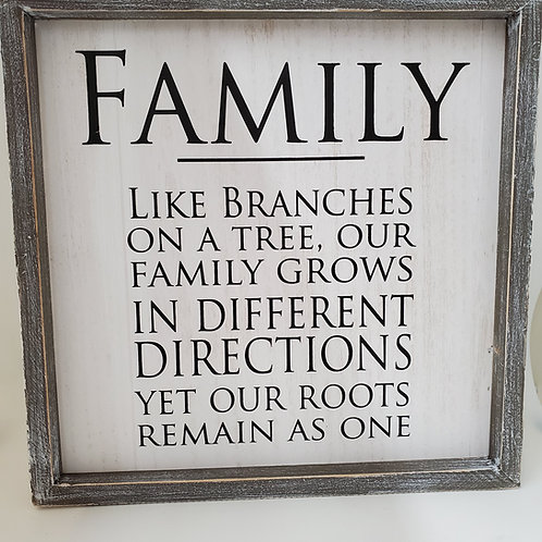 Adams And Co Family Wooden Plaque