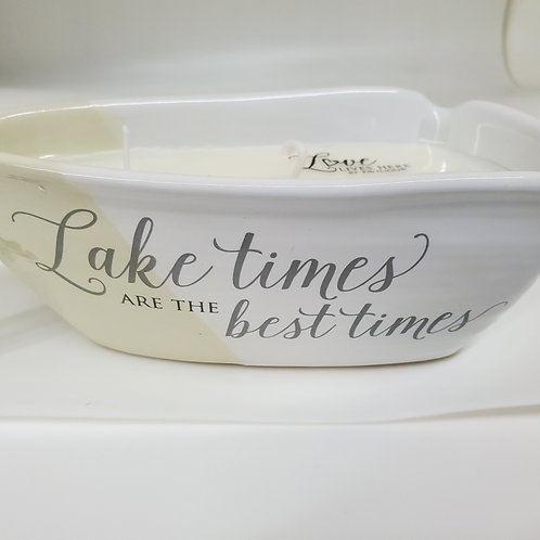 Lake Times  Triple Wick 10 oz Soy Wax Candle Scent: Tranquility
