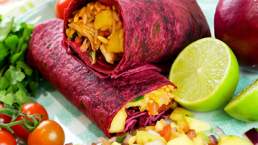 "Beetroot Tortilla Wraps 12"" (30cm)  x 18pcs"