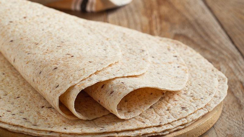 "Wholewheat Tortilla Wraps 12"" (30cm) x 18pcs"