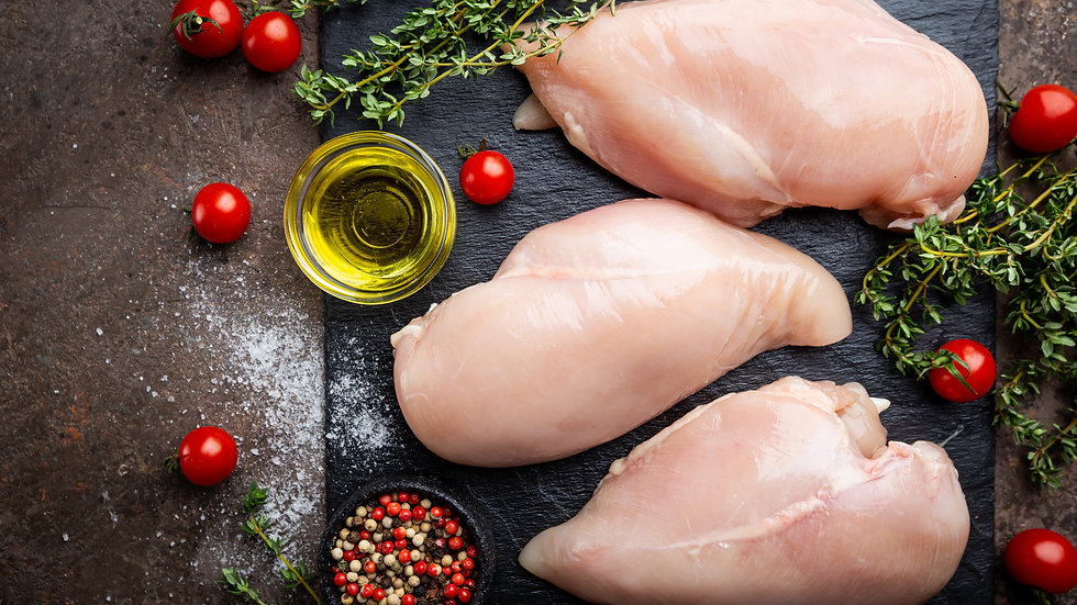 Chicken Breast Fillets (Skinless, Boneless 200-240g) IQF Raw x 10kg