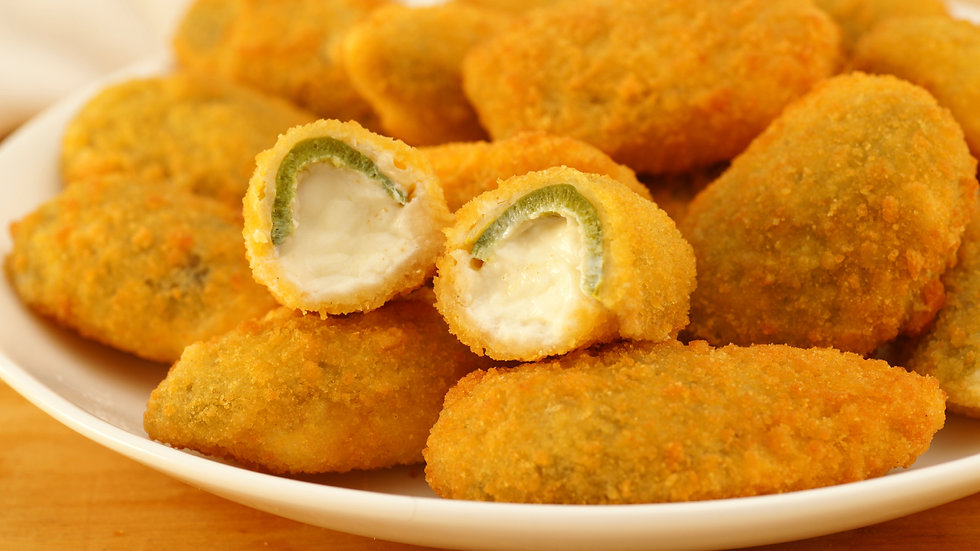 Green Jalapeno Cream Cheese filled Hotshots x 1kg