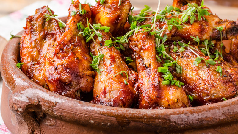 Chicken Wings BBQ Coated IQF x 1kg