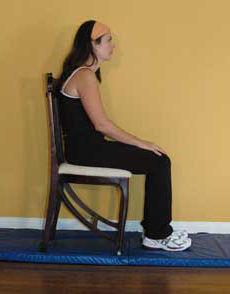 Slouching while sitting
