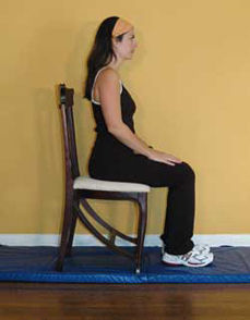 Neutral spine while sitting