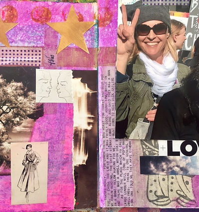 Emily Cline Art Journaling Page