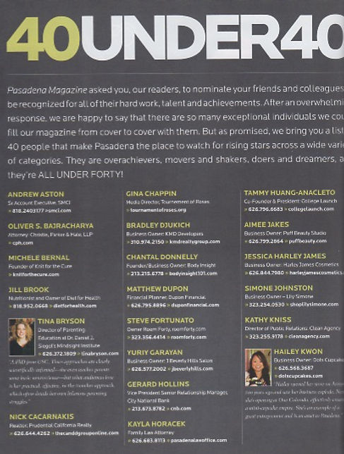 Pasadena Magazine's 40 Under 40