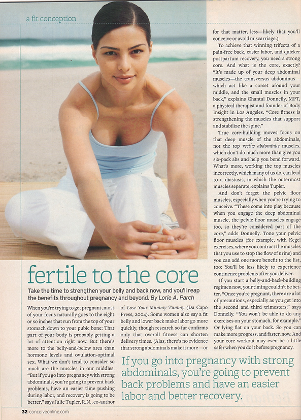Conceive magazine article