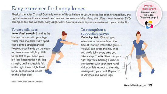 Health Monitor Exercises for Happy Knees