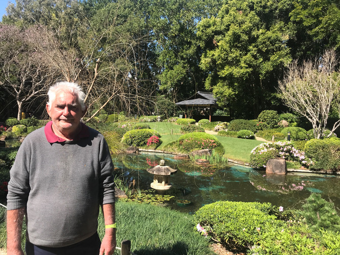 Barry at the Japanese Gardens in Queens