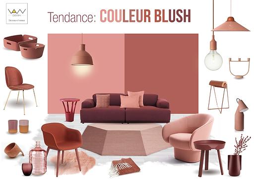 planche tendance couleur blush vandesign Martinique décoration d'intérieur