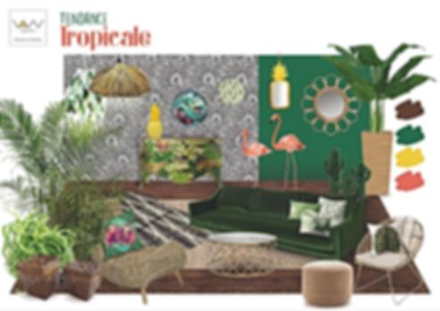 planche tendance tropicale exotique jungle vandesign Martinique décoration d'intérieur