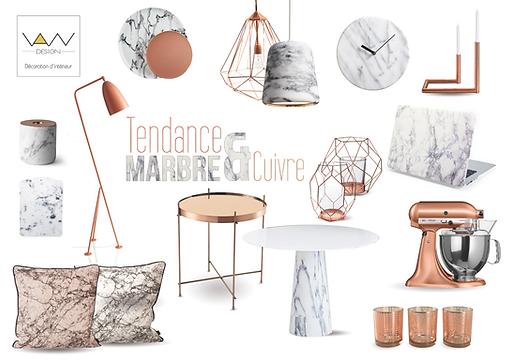 planche tendance marbre cuivre vandesign Martinique décoration d'intérieur