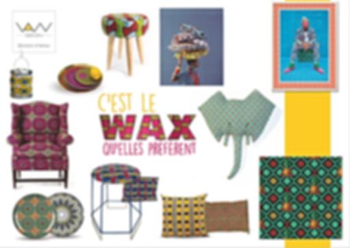 planche tendance wax africain vandesign Martinique décoration d'intérieur