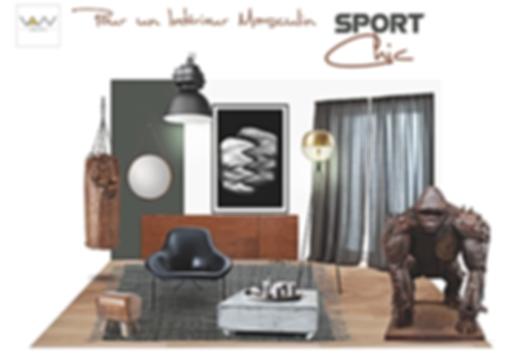 planche tendance sport chic vandesign Martinique décoration d'intérieur