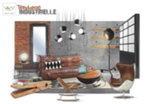 planche tendance industrielle vandesign Martinique décoration d'intérieur