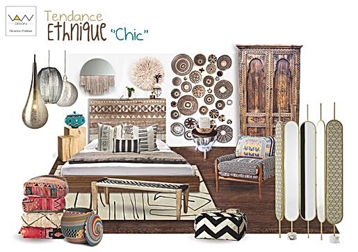 planche tendance ethnique graphique vandesign Martinique décoration d'intérieur