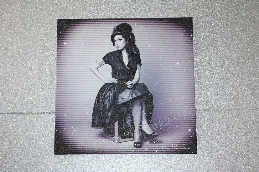 Amy Winehouse Diamond Canvas Collection By D.Bishop