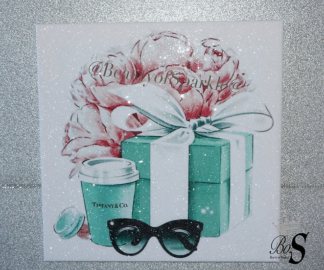 """Tiffany & Co"" Glitter Diamond Dust Canvas."