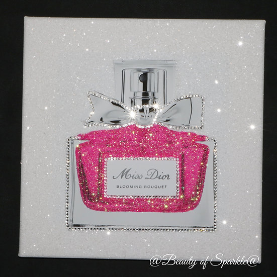 Miss Dior Pink Glitter, Diamond Dust Canvas Or Frame. Any size.