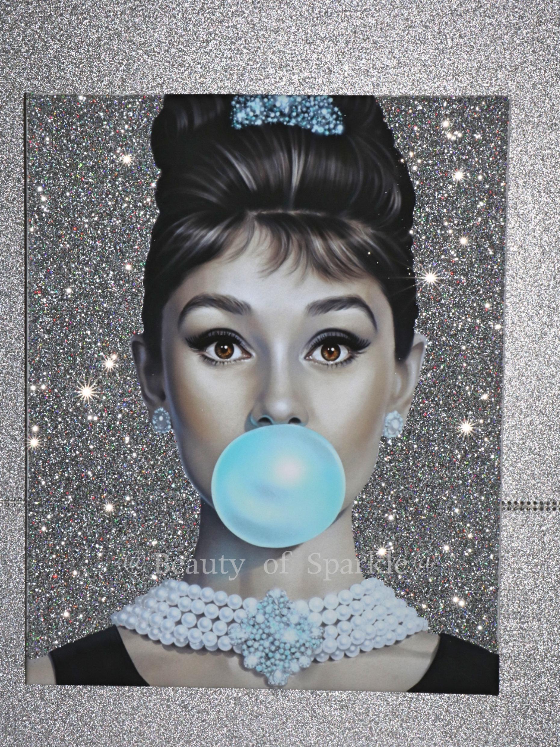 Audrey Hepburn Glitter Canvas