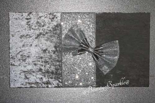 Luxury crushed velvet with silver glitter wall art personalised crystal canvas glitter - Sparkle wall decor ...