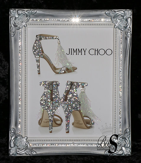 Jimmy Choo Sparkle Glitter picture, Shabby Chic Framed or Canvas! Any Size