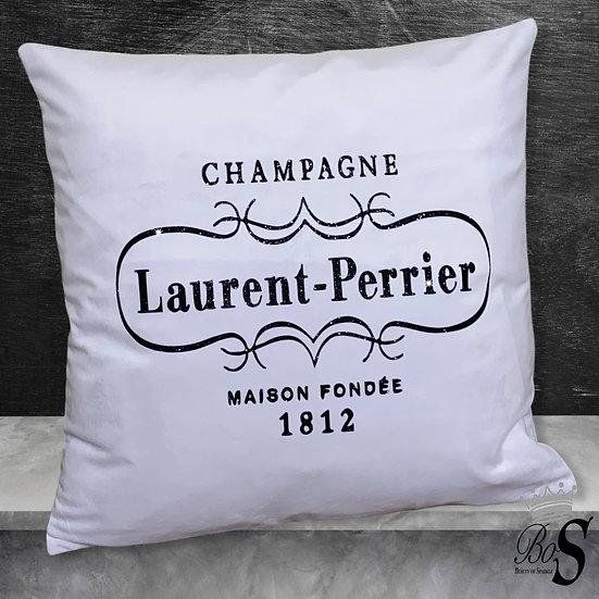 """Luxury White soft Velvet """"Laurent Champagne""""Glitter Cushion."""