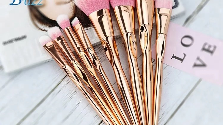 8pc Rose Gold Makeup brush set