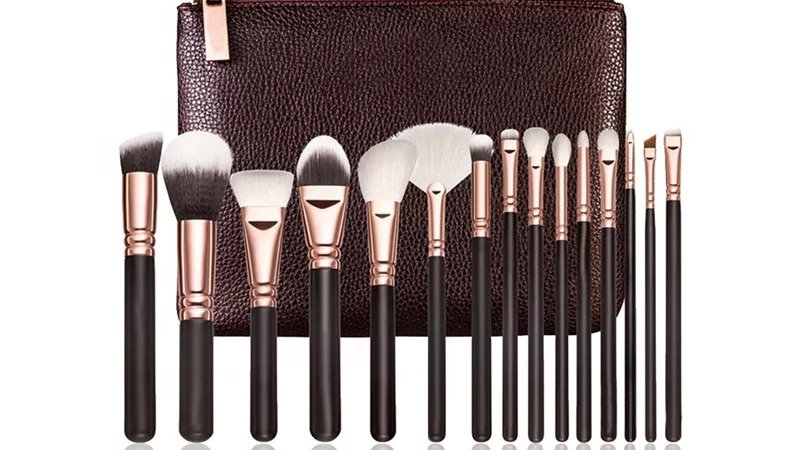 15 pc high quality makeup brush set