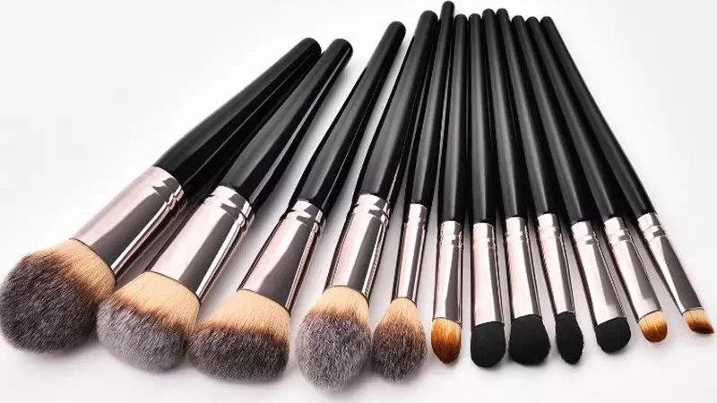 12pc synthetic makeup brush set