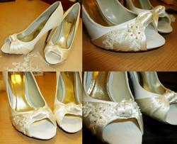Customised wedding shoes