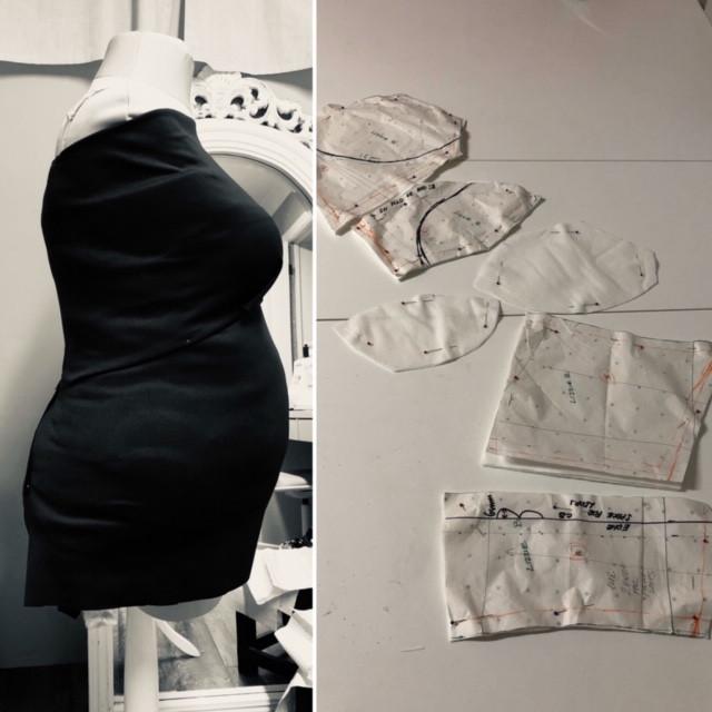 Earlu stages of bespoke dress design