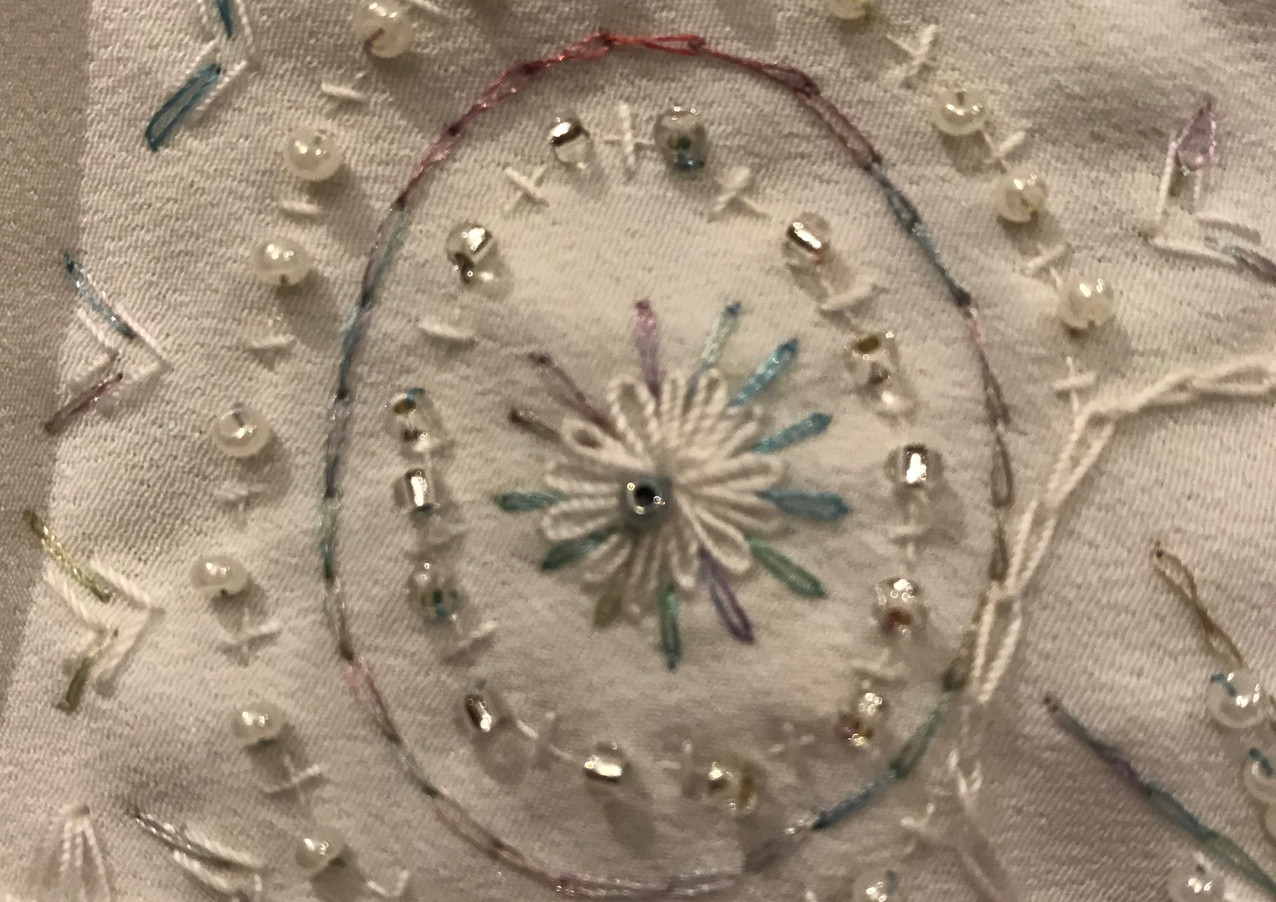 Bespoke embroidery for a wedding gown