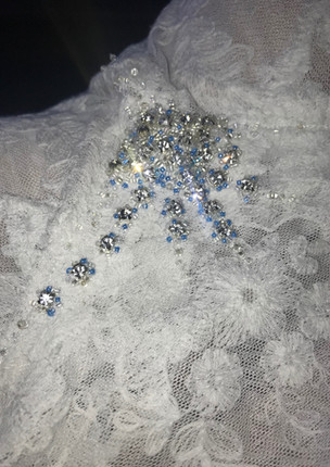 Crystals and beads hand application