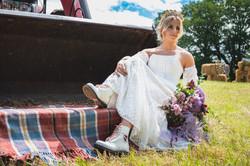 Farm style wedding dress